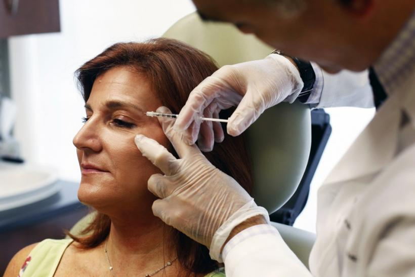 Landis receives botox treatment from Dr. Alizadeh at the Long Island Plastic Surgical Group at the Americana Manhasset luxury shopping destination in Manhasset