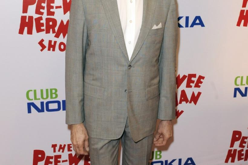 "Actor Paul Reubens as Pee Wee Herman arrives at the opening night of the ""Pee Wee Herman Show"" in Los Angeles"