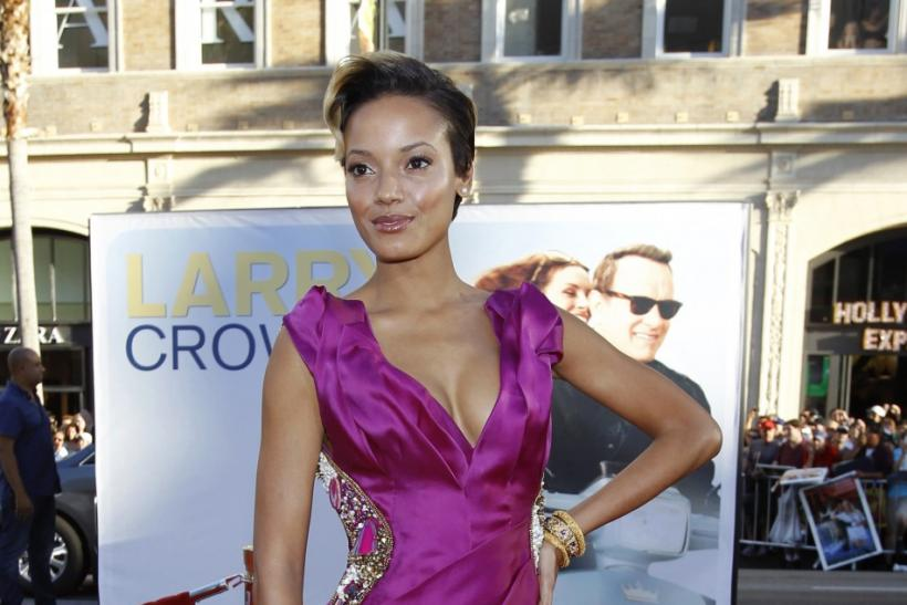 "Ebanks poses at the world premiere of ""Larry Crowne"" at the Chinese theatre in Hollywood"
