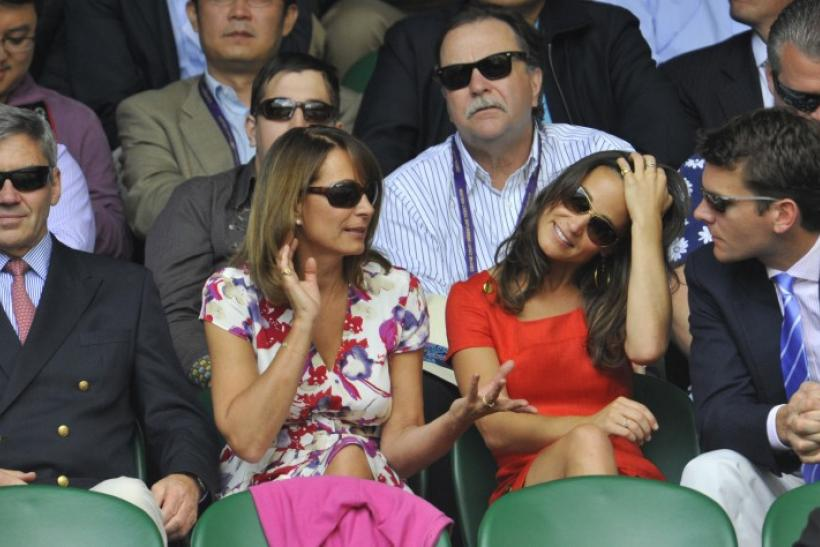 (left) Parents of Catherine, Duchess of Cambridge, and Her Sister, Pippa Middleton