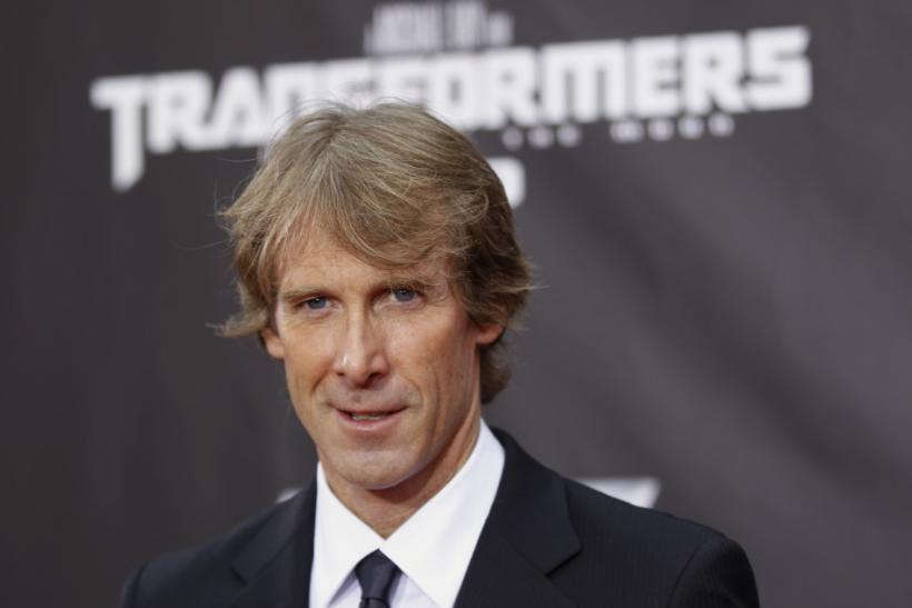 Director Michael Bay arrives for the premiere of Transformers: Dark of The Moon in Times Square in New York