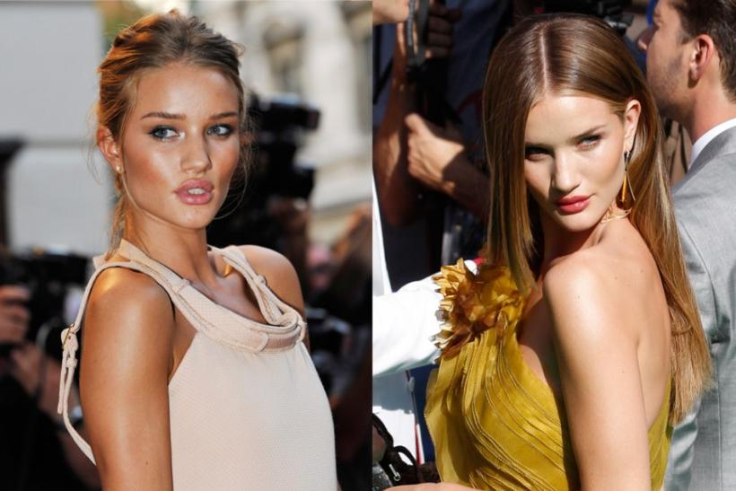 Model Rosie Huntingdon-Whitley (L) and Actress Megan Fox