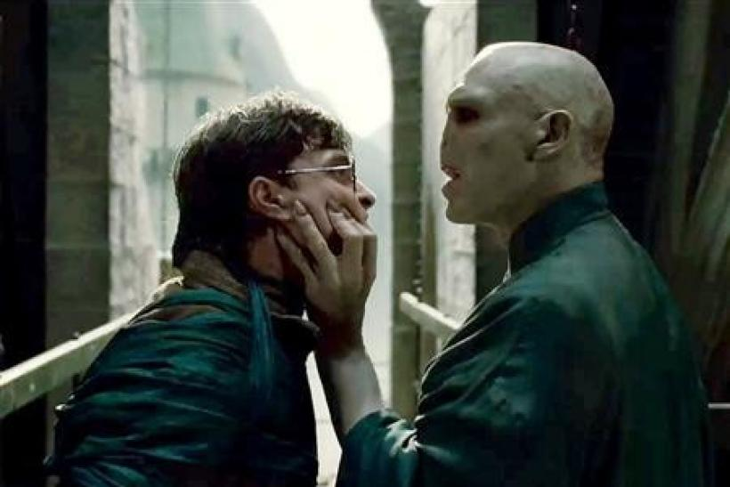 Daniel Radcliffe and Ralph Fiennes in a scene from ''Harry Potter and the Deathly Hallows - Part 2''.