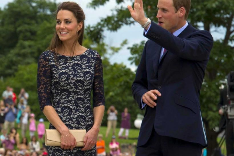 Britain's Prince William and his wife Catherine, Duchess of Cambridge visit the National War Memorial in Ottawa