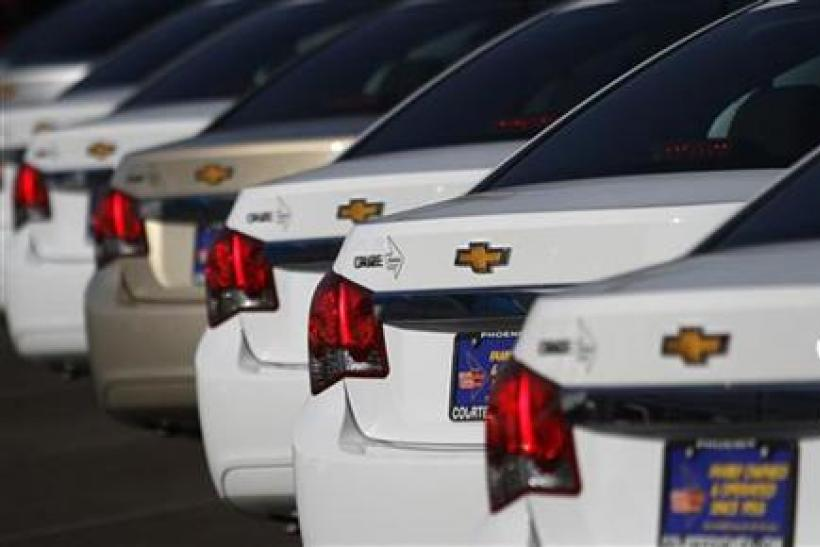Chevrolet Cruze vehicles are displayed at courtesy Chevrolet dealership in Phoenix