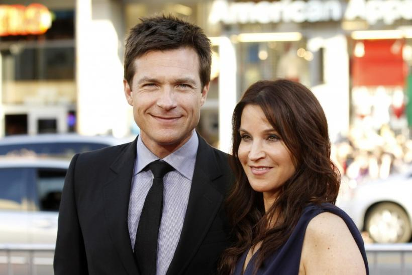Cast member Jason Bateman and his wife Amanda.