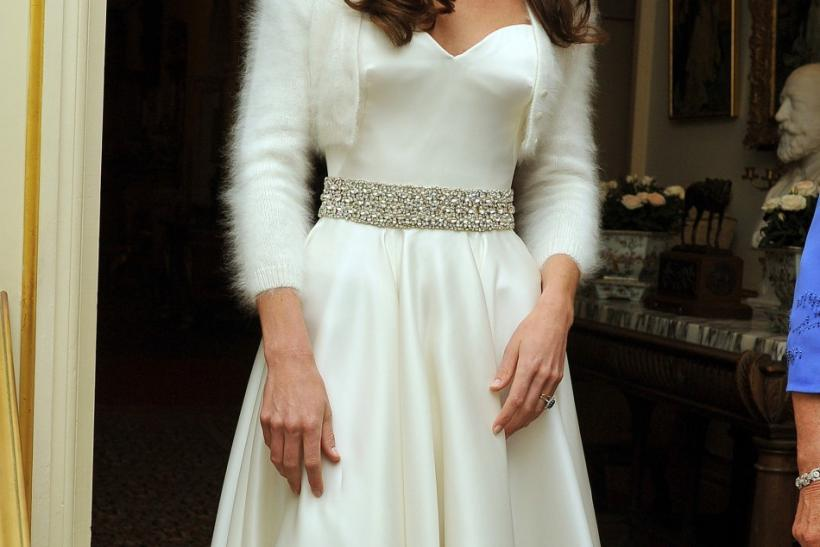 Kate Middleton in Alexander McQueen for her wedding reception