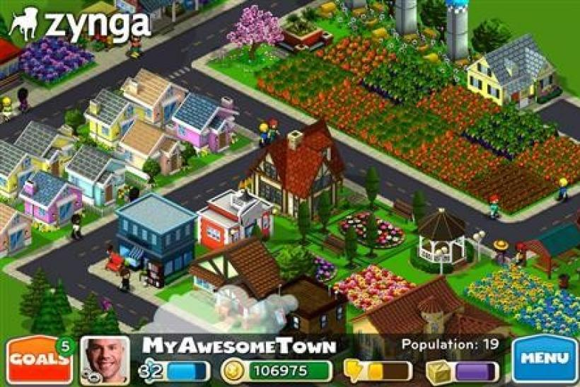 The CityVille hometown game in an image courtesy of Zynga.