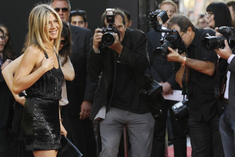 Jennifer Aniston poses at the premiere of Horrible Bosses at the Grauman's Chinese theatre in Hollywood