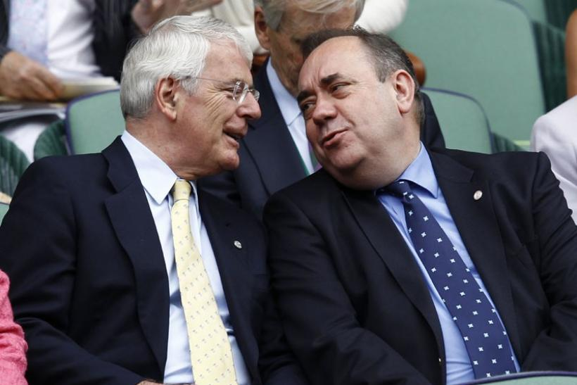 Former British PM John Major and First Minister of Scotland, Alex Salmond