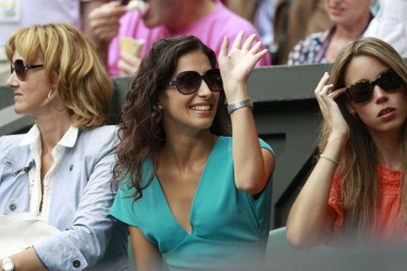 Nadal's girlfriend, mom and sister photo