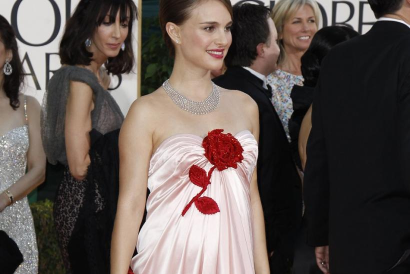 Actress Natalie Portman arrives at the 68th annual Golden Globes Awards in Beverly Hills