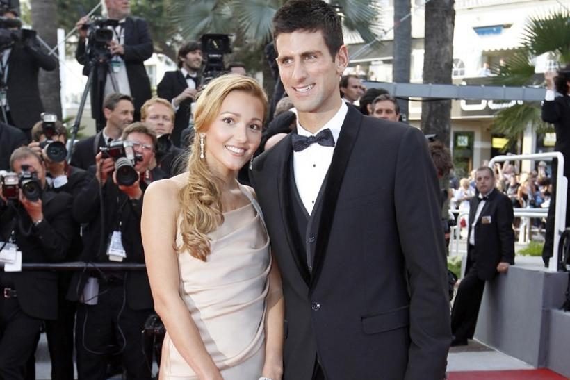 Tennis player Djokovic and girlfriend Ristic
