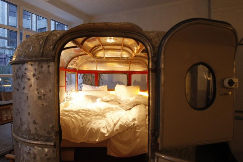Indoor camping hotel Huettenpalast in Berlin