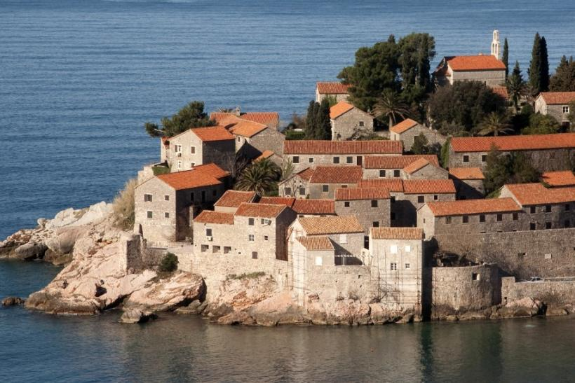 Sveti Stefan, a seaside resort on the Adriatic Sea