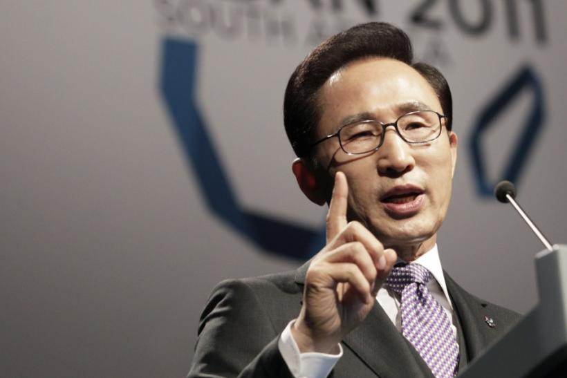 South Korea's President Lee speaks during the Pyeongchang bid city presentation to the 123rd IOC session in Durban