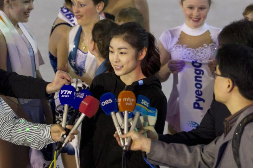 Reigning Olympic champion ladies figure skating and PyeongChang 2018's Athlete Ambassador Kim Yuna is interviewed in Durban