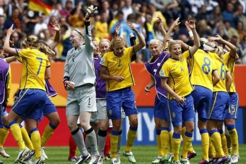 Swedish team celebrating
