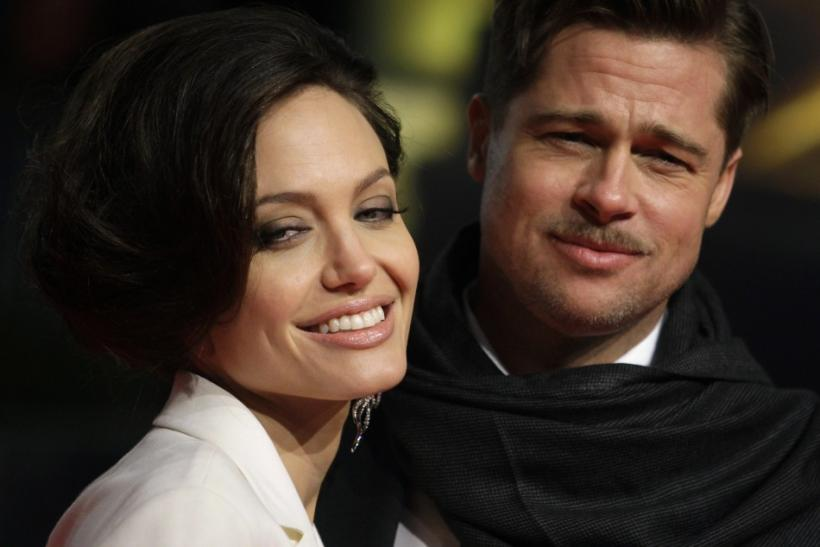 U.S.actor Pitt and his partner Jolie