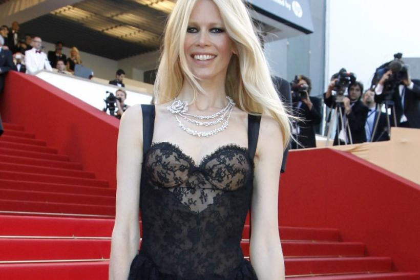 "Model Claudia Schiffer arrives on the red carpet for the screening of the film ""This Must Be The Place"", in competition at the 64th Cannes Film Festival"