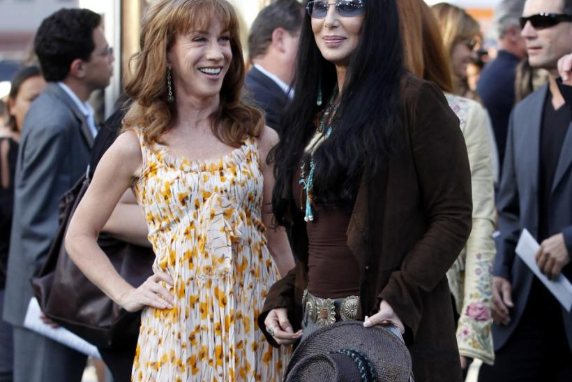 Kathy Griffin (L) and cast member Cher