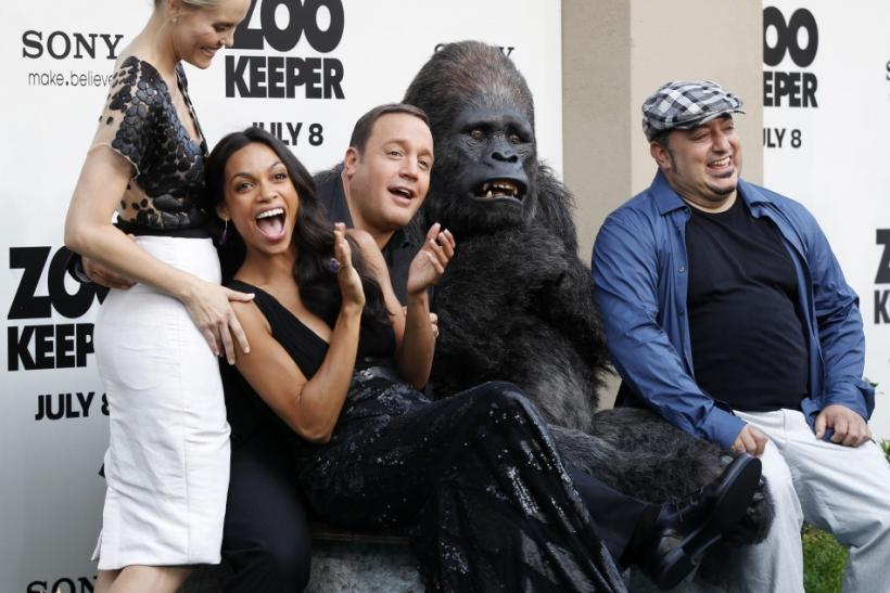 (L-R) Leslie Bibb, Rosario Dawson, Kevin James and director Frank Coraci