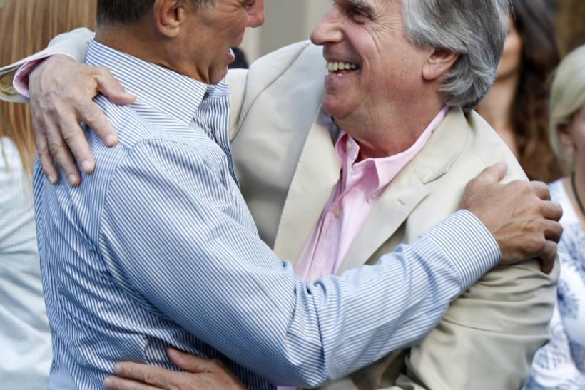 Tony Danza (L) and Henry Winkler