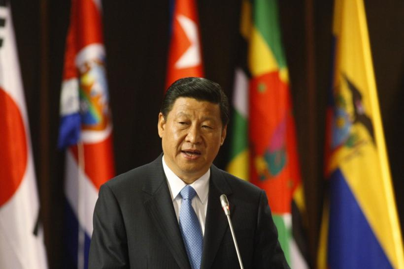 Xi Jinping speaks during a meeting at the Economic Commission for Latin America and the Caribbean (CEPAL) in Santiago