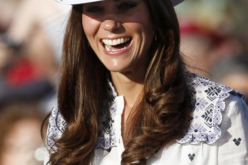 Catherine, Duchess of Cambridge wears her cowboy hat during visit to Calgary