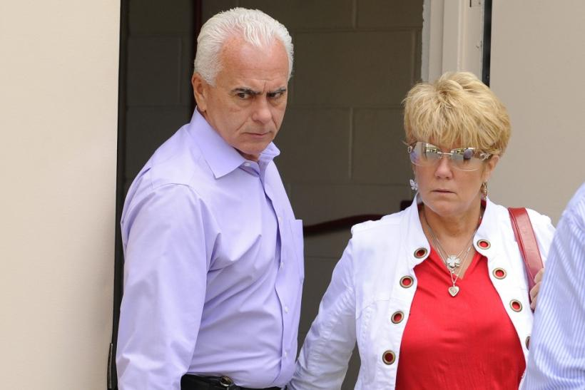 George and Cindy Anthony leave the Orange County Court House after murder trial of their daughter Casey in Orlando.