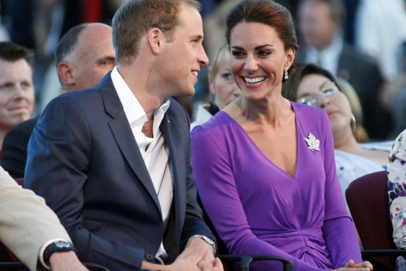 Britain's Prince William and his wife Kate Middleton