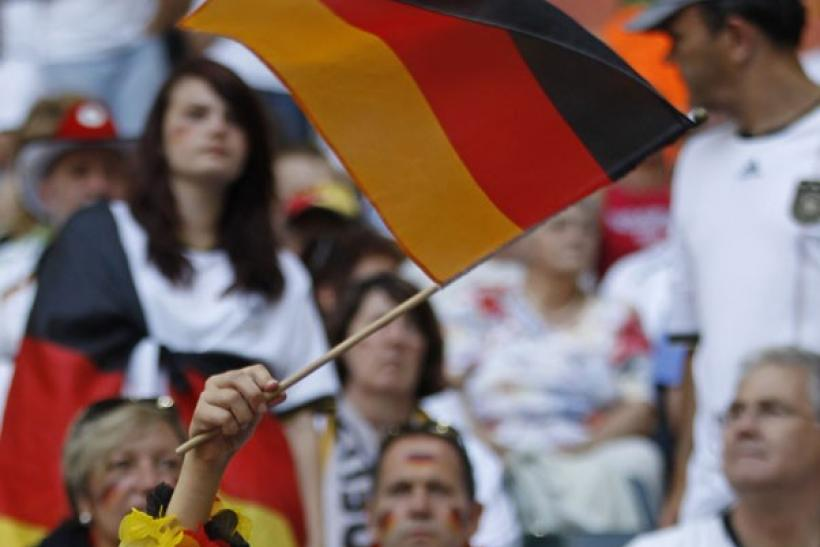 A young supporter of Germany