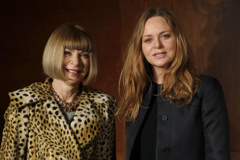 Anna Wintour and Stella McCartney arrive at an event to promote the upcoming exhibition of Alexander McQueen's work in London