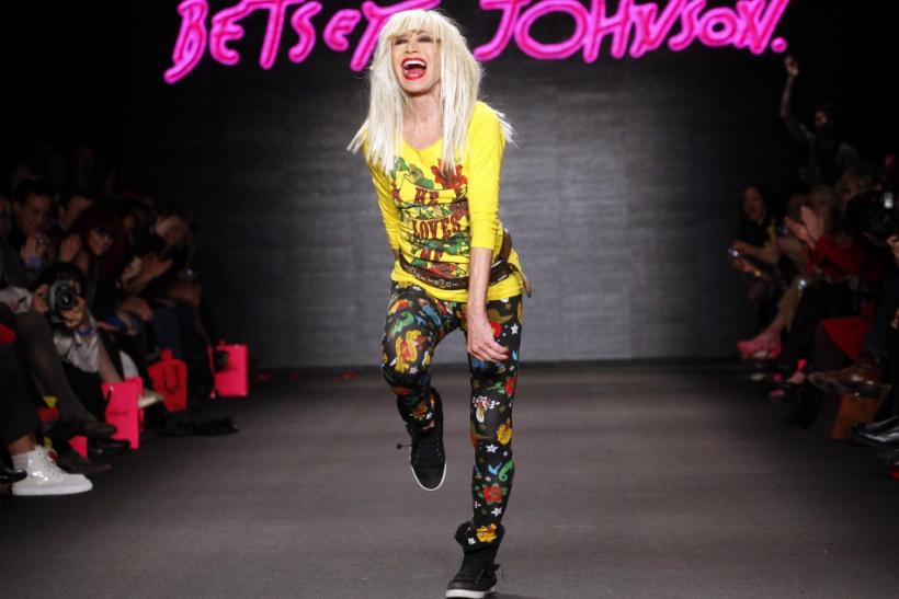 Designer Betsey Johnson walks on the runway after her Fall/Winter 2011 collection show during New York Fashion Week February 14, 2011.