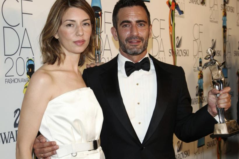 U.S. film director Sofia Coppola (L) and designer Marc Jacobs, honoree of the Geoffrey Beene Lifetime Achievement Award, pose at the CFDA Fashion Awards at the Lincoln Center's Alice Tully Hall in New York City June 6, 2011.