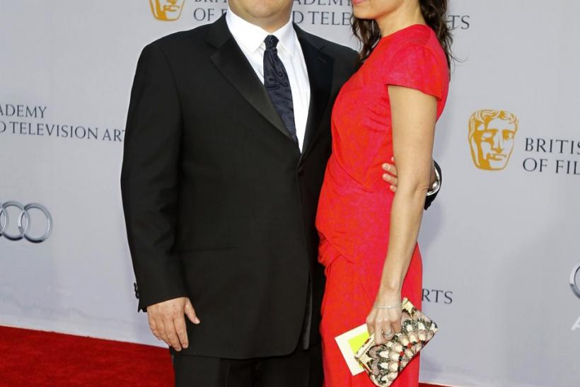 Actor Jack Black and wife Tanya arrive at the BAFTA Brits to Watch event in Los Angeles