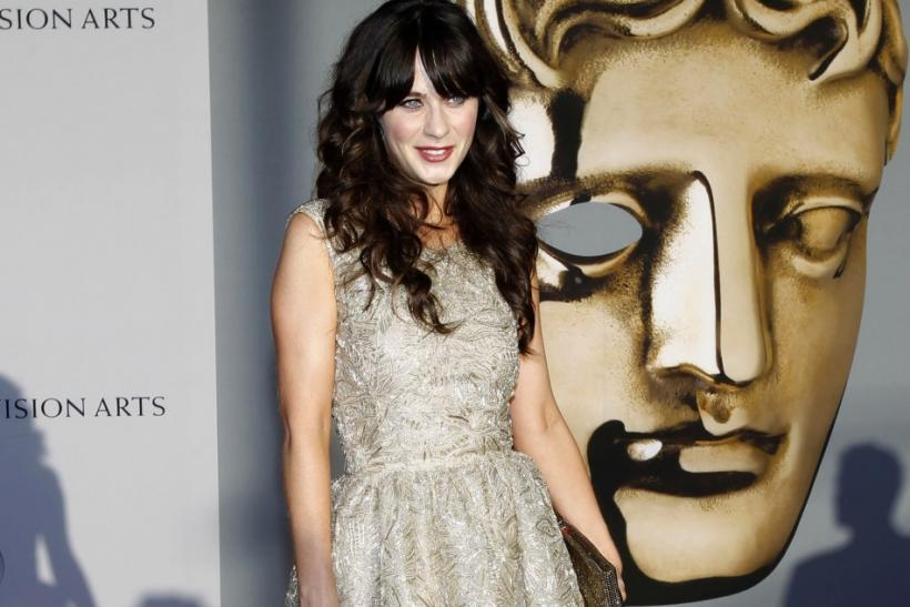 Actress Zooey Deschanel arrives at the BAFTA Brits to Watch event in Los Angeles