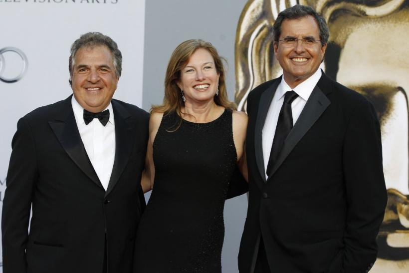 Fox Filmed Entertainment Chairman Gianopulos, his wife Ann and Chernin, former chief operating officer at News Corp, arrive at BAFTA Brits to Watch event in Los Angeles