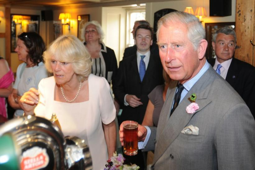 Britain's Prince Charles and his wife Camilla, Duchess of Cornwall visit the Devon town of Salcombe
