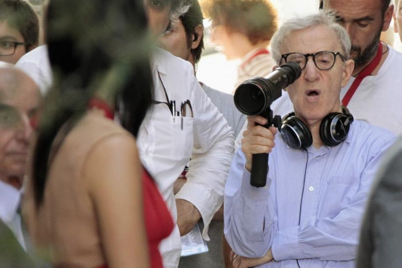 U.S. director Woody Allen reacts during the shooting of the movie