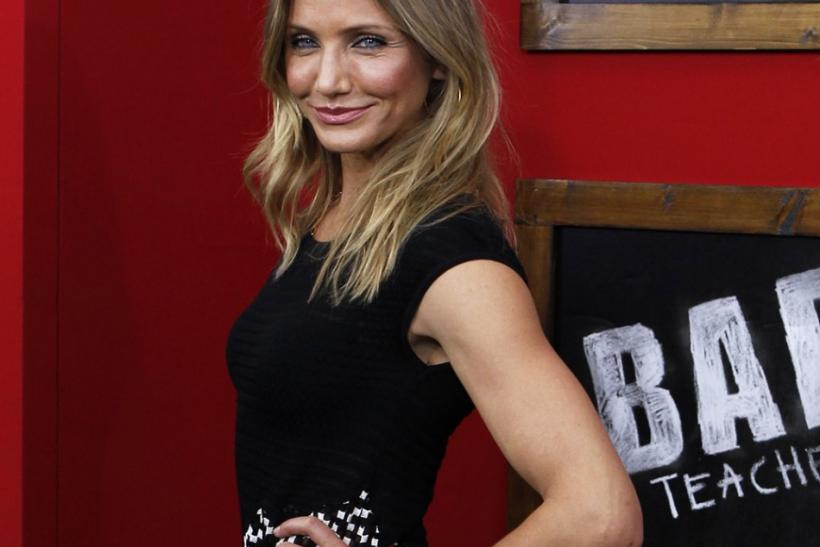 Actress Cameron Diaz in New York
