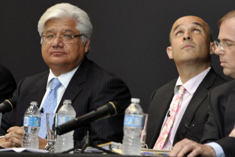 RIM Co-CEOs Lazaridis and Balsillie attend the firm's annual general meeting of shareholders in Waterloo