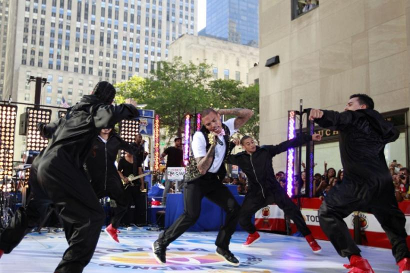 Chris Brown performs on NBC's 'Today' show in New York