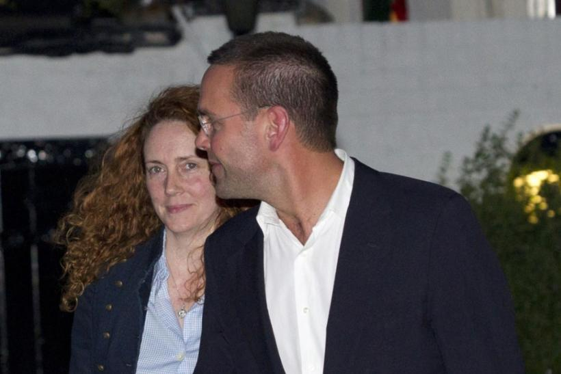 Rebekah Brooks, Chief Executive of News International, and News International Chairman James Murdoch