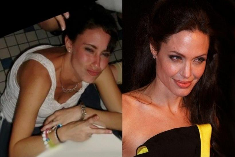 Casey Anthony (left) and Angelina Jolie