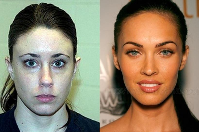 Casey Anthony (left) and actress Megan Fox