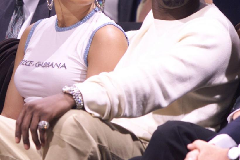 "Recording artists Sean ""P. Diddy"" Combs (Puff Daddy) and actress/singer Jennifer Lopez"