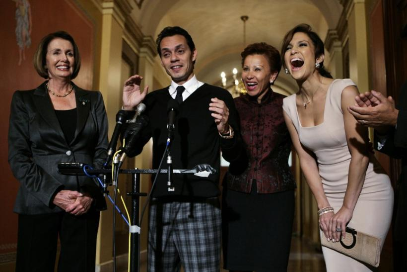 Speaker of the U.S. House of Representatives Nancy Pelosi with the couple
