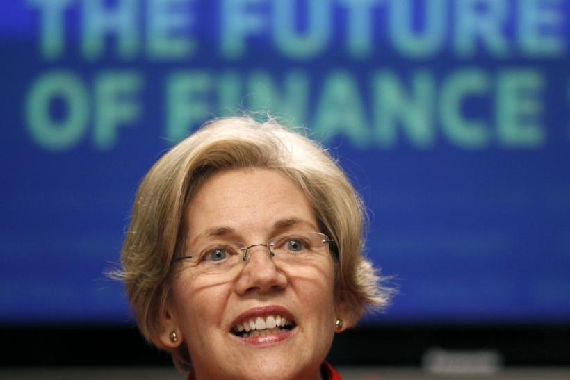 Elizabeth Warren at the Reuters finance summit in Washington