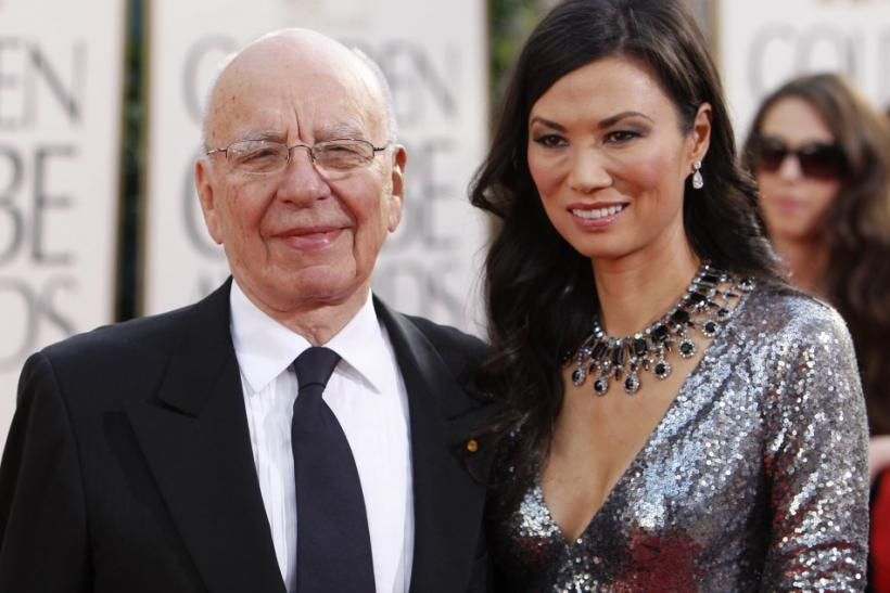 News Corp Chief Executive Rupert Murdoch and his wife Wendi Deng arrive at the 68th annual Golden Globe Awards in Beverly Hills